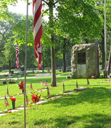 Veterans Circle with Flags